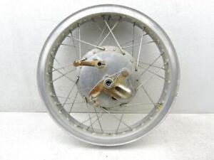 "18"" Akront Alloy Rear Wheel Stainless Spokes Brake Drum Vintage Ossa Pioneer 128"
