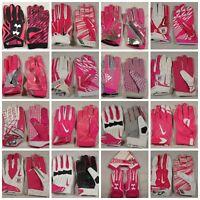 New Mens Nike Under Armour Adidas NFL Team Issue Football Gloves Pink BCA Komen