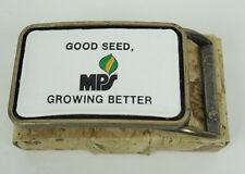 Vintage MPS Seed Belt Buckle - Farm Agriculture - Made in USA - Leather