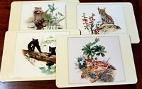 Large Placemats by JASON ~Set of 4 Young Animals by Glen Loates ~Cork Back ~Vtg