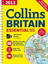 2013 Collins Essential Road Atlas Map Britain By HarperCollins Publishers Spiral