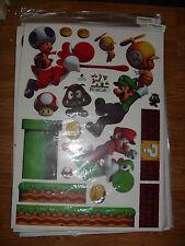 Super Mario Decals Removable Wall Sticker Bros Kids Nursery Home Decor Vinyl
