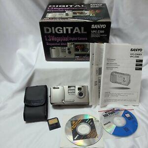 Genuine Sanyo VPC-Z380 Digital Camera, Wrist Strap ,Case, Manual, Box Tested