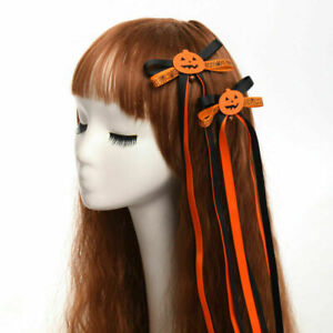 Gothic Lolita Halloween Cosplay Costume Hair Accessories With Pumpkin And Ghosts