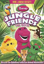 BARNEY JUNGLE FRIENDS THE MOVIE New Sealed DVD + CD New