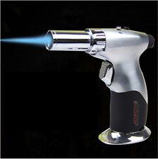 JOBON Windproof Adjustable Jet Flame Butane Cigar Lighter Silver US