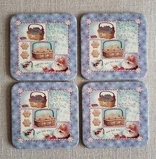 Set of 4 New Longaberger Christmas Coasters - Let it Snow, Santa 🎅