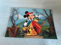 Mickey Mouse and Pluto Vintage Disney 3D-Lenticular Post Card