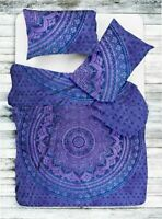 Indian Cotton Mandala Doona Duvet Cover Single Quilt Cover Boho Bedding Blanket