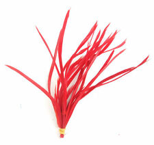 20 Red Loose Goose Biot Feathers length 15cm-19cm - crafts, millinery, etc