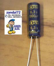 20 PEZZI CONDENSATORE ELETTROLITICO VERTICALE 1800uF 6,3V 105° 8x20 PASSO 3mm