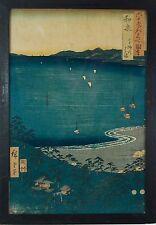 "Utagawa Hiroshige (1797-1858) ""Izumi Province Takashi Beach"" JAPANESE WOODBLOCK"