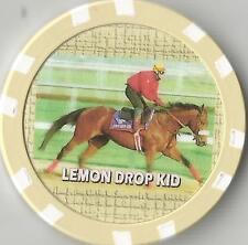 **LEMON DROP KID** HORSE RACING COLLECTOR CHIP  WON BELMONT 1999