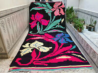 Vintage Handmade Moroccan Rug Beni Ourain Berber Rug Azilal Wool Carpet 6 x 9 ft