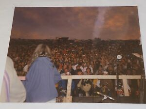 """Dusk and Storms coming on Fans at 1989 Woodstock festival Color Photo 8""""X10"""""""