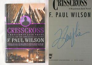 Signed 1st Ed CRISSCROSS F. Paul Wilson FINE HARDCOVER REPAIRMAN JACK BOOK