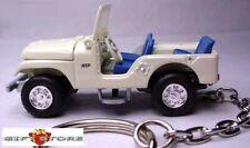 KEY CHAIN WHITE JEEP CJ-5/6/7 4X4 WRANGLER WILLYS KAISER AMC LIMITED EDITION NEW
