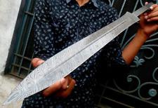 "Custom Handmade Damascus Sword Blade 27"""