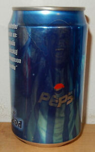 PEPSI COLA ROBERTO CARLOS Soccer Player can from THAILAND (325ml)