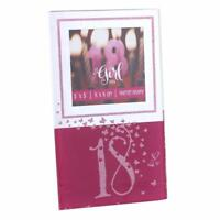 "18th Birthday Pink Glitter and Mirror Photo Frame 3"" x 3"" Gift Boxed SP2072"