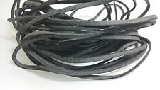 5 YARDS - 15 FEET Gray Faux Suede Cord Leather Lace Ribbon Soft 3mm x 1.5mm #02