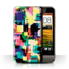 STUFF4 Case/Cover for HTC One V/Modern Vibrant/Retro 80s Abstract