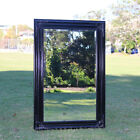 Europe palace style Embossed Wall Mirror Jet Black Wooden frame 91CM X 60CM