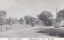 Restaurant Royal Lunches Rue St Laurent BEAUHARNOIS Quebec 1930-40 Postcard 40A