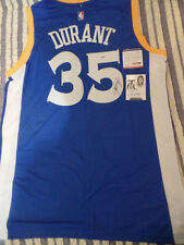 Kevin Durant PSA/DNA COA autograph jersey NBA champs signed Adidas Swingman + 2