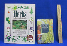 Herbs Encyclopedia Book Beans Peas & Lentils Book Hardcover Books Lot of 2