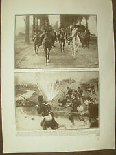 VINTAGE 1914 WWI MAGAZINE PRINT - FRENCH TROOPS IN ACTION IN NORTHERN FRANCE