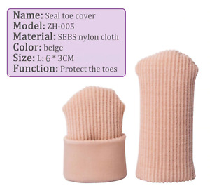 1x LARGE 3cm Wide Fabric Lined Gel Toe Cap Protector Corns/Clawed/Hammer Toes