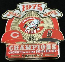 CINCINNATI REDS VS BOSTON RED SOX 1975 WORLD SERIES PIN MLB LICENSED