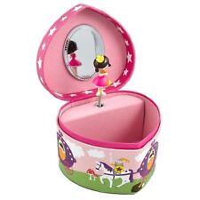 Princess Heart Musical Jewellery Box Sleeping Beauty Childrens Girl Jewelry Gift