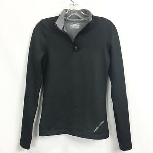 Under Armour Womens Small 1/4 Zip Pullover Cold Gear Fitted Long Sleeve Shirt