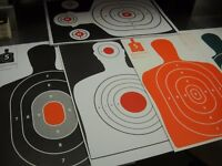 125 Bulk Pack Silhouette hand gun, rifle paper shooting targets