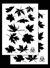 """2 PACK Vinyl Airbrush Camo Stencils Camouflage for Duracoat 14"""" (Leafy Maple)"""
