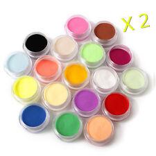 18 Color Acrylic Powder Nail Art Tool Kit