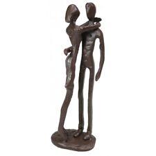 Hugging Couple Ornament Cast Iron Sculpture Ornament Figurine 17cm Brown New