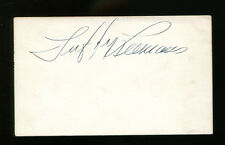 Tuffy Leemans Signed Index Card 3x5 Autographed NY Giants JSA #Y32379