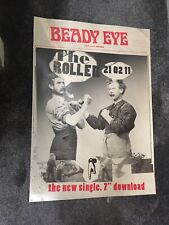 Beady Eye The Roller Original Promo Poster Oasis Liam Gallagher