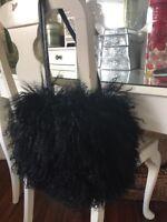 Marks And Spencer's Black Handbag Mongolian Fur