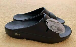 New OOFOS WOMEN'S OOAHH SLIDE SANDAL - BLACK size 8