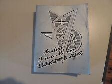 Pontiac GRAND AM 1987 Shop Workshop Service manual Werkstatthandbuch