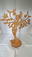 Arbre à bijoux 26 cm MDF ,présentoir 26 cm x 19 cm ,socle dia 10cm , décoration