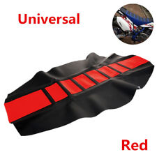 Universal Leather Gripper Soft Motorcycle Rib Skin Rubber Dirt Bike Seat Cover