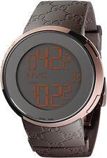 Gucci Men's YA114209 I-gucci Digital Brown Rubber Strap Watch