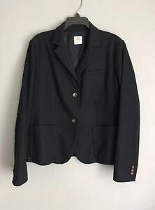 Gap Women's Button Up Polyester Viscose Blazer Dark Blue Size 18 Mint Condition