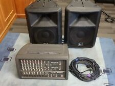 Mackie 408M 500Watt Power Mixer Sound System EV Sx100/300 Speakers & CPK Stands