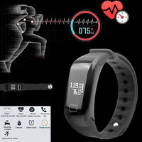 US F1 Blood Pressure/Oxygen Heart Rate Monitor Smart Watch Band Fitness Tracker